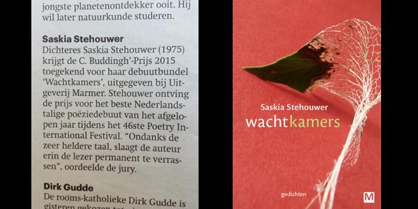 Poetry 2015: de winnaar van de C. Buddingh'-prijs is bekend