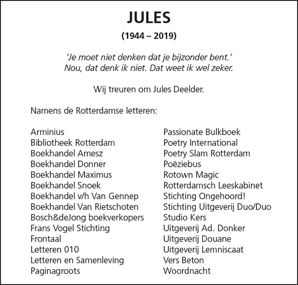 JULES (1944 – 2019)